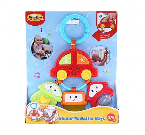 Winfun Sound And Rattle Keys, Multi Color New Born for Kids age 3M+