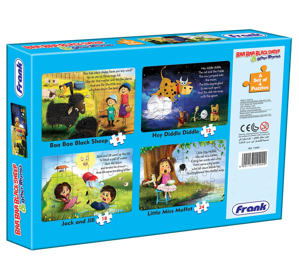 Frank Baa Baa Black Sheep And Other Rhymes Puzzle for Kids age 3Y+