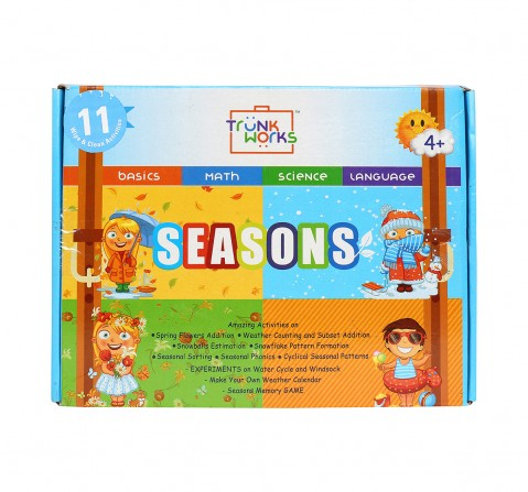 Trunk Works Seasons Kit 11 Wipe And Clean Activities Math Science Basic Language Games for Kids age 4Y+