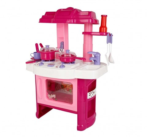 Comdaq Pink Kitchen Play Set Kitchen Sets & Appliances for Girls age 3Y+