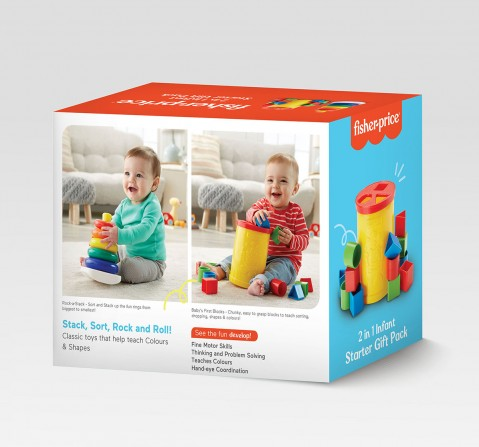 Fisher-Price 2-in-1 Infant Starter Giftpack  for Kids age 0M+