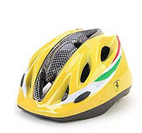 Ferrari Sports Kids Helmet Yellow Ball Sports & Accessories for Kids age 5Y+