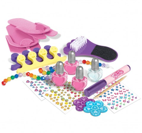 Cra-Z-Art Pampered Pedicure, Multi Color DIY Art & Craft Kits for Kids age 3Y+