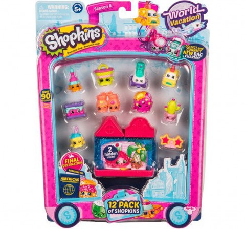 Shopkins Season 8 America Toy 12 Pack Collectable Dolls for Girls age 3Y+