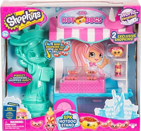 Shopkins Season 8 Usa Hotdog Stand Playset Collectible Dolls for Girls age 3Y+