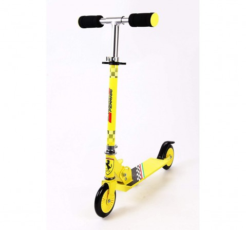 Ferrari 2 Wheel Scooter Yellow Scooters for Kids age 3Y+ (Yellow)