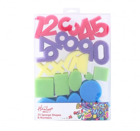 Hamleys Number And Shapes Sponges School Stationery for Kids age 3Y+