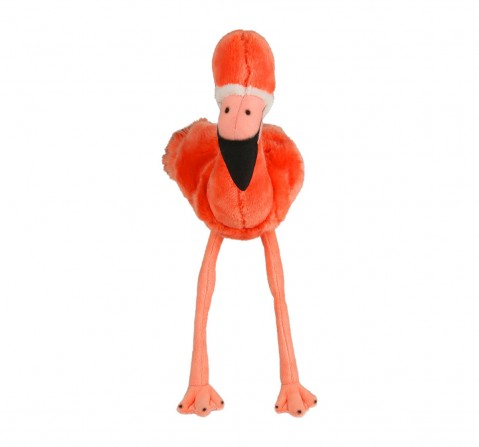Hamleys Flamingo Finlay Bird Plush Soft Toy (Red) Animals & Birds for Kids age 12M+ - 49 Cm (Orange)