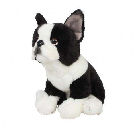 Hamleys French Bulldog Pet Animal Plush Soft Toy (White/Black) Animals & Birds for Kids age 12M+ - 22 Cm (White)