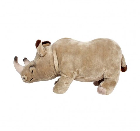 Hamleys Grey Rhino Reginald Animal Plush Soft Toy, Girls and Boys, Animals & Birds for Kids age 12M+ 23 Cm