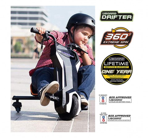 Megawheels Drifter 3-wheeler Rideon for Kids age 8Y+ (Black)
