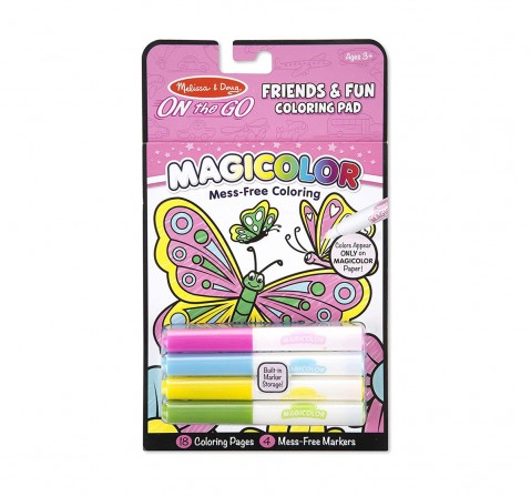 Melissa & Doug on The Go Magic Coloring Pad - Friendship And Fun, DIY Art & Craft Kits for Kids age 3Y+