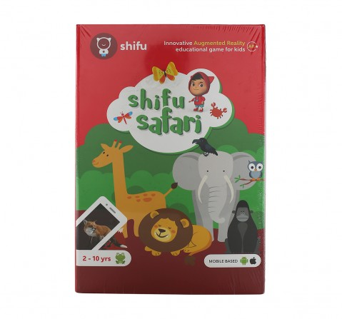 Playshifu Safari Augmented Reality Learning Games - Ios & Android (60 Animal Cards) Science Kits for Kids age 24M+