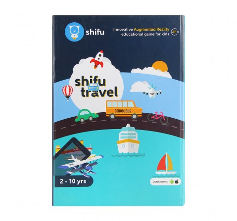 Playshifu Travel Augmented Reality Learning Games - Ios & Android (60 Vehicle Cards) Science Kits for Kids age 24M+