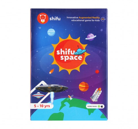 Playshifu iOS And Android Augmented Reality Space Educational Game, Black Science Kits for Kids age 5Y+