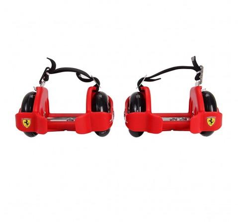 Ferrari Flashing Wheels Roller Skates and Skateboards for Kids age 5Y+ (Red)