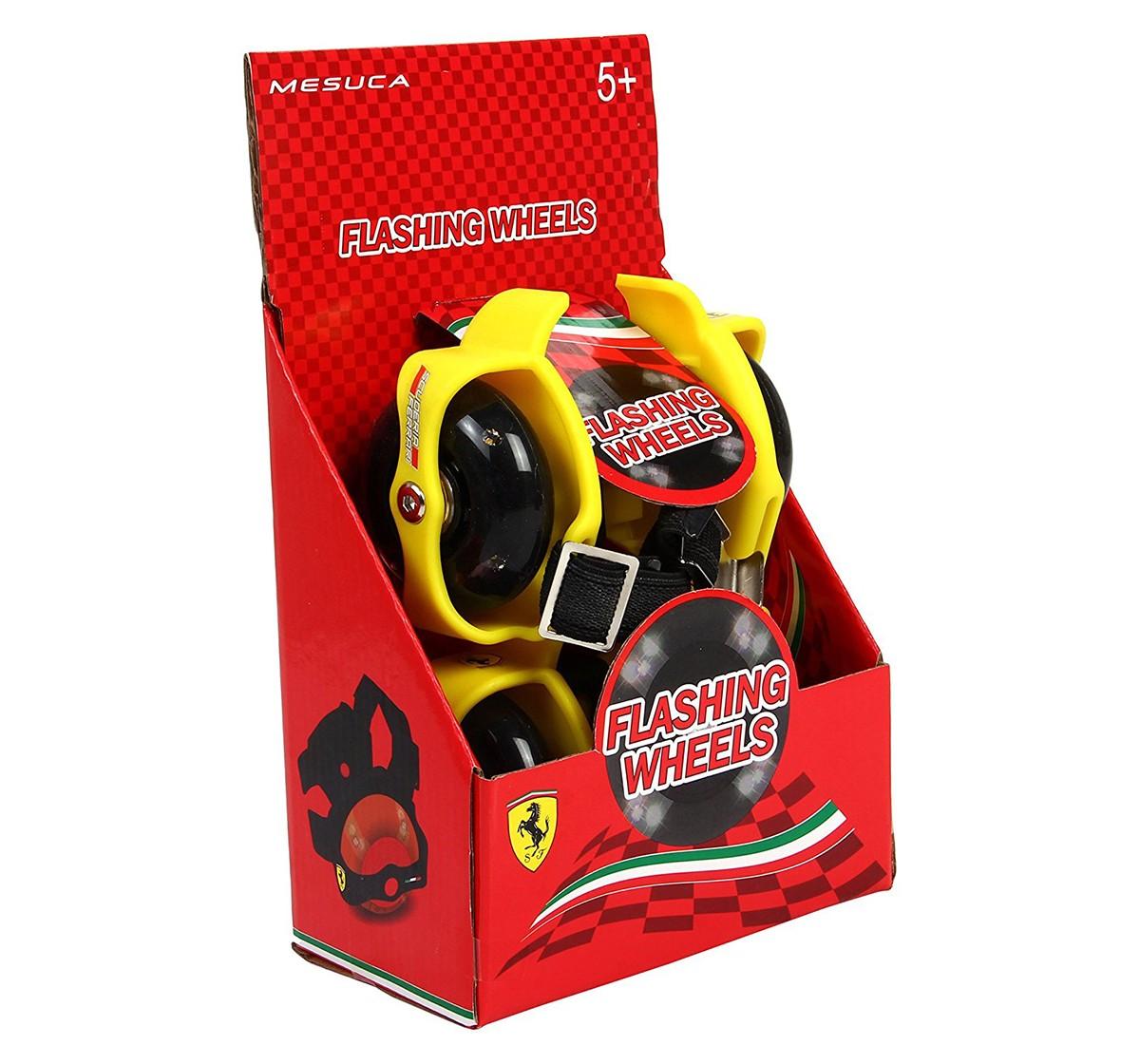 Ferrari Flashing Wheels Roller Skate, Skates and Skateboards for Kids age 5Y+ (Yellow)