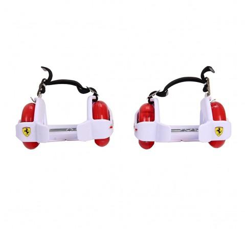 Ferrari Flashing Wheels Roller Skates, Skates and Skateboards for Kids age 5Y+ (White)