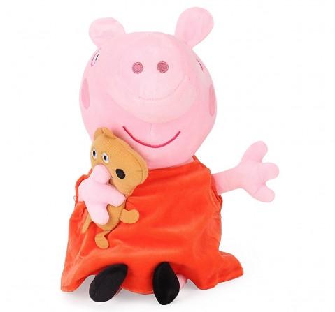 Peppa Pig with Bear 19 Cm Soft Toy for Kids age 2Y+ (Orange)