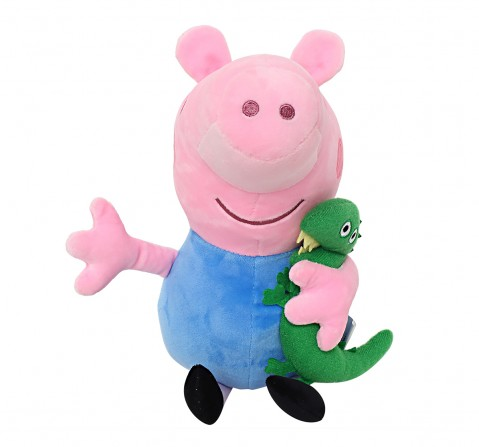 Peppa George Pig with Dinosaur 30 Cm Soft Toy for Kids age 2Y+ (Blue)