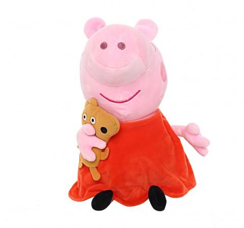 Peppa Pig with Bear 30 Cm Soft Toy for Kids age 2Y+ (Orange)