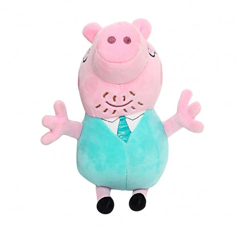 Peppa Pig Daddy 19 Cm Soft Toy for Kids age 3Y+ (Pink)