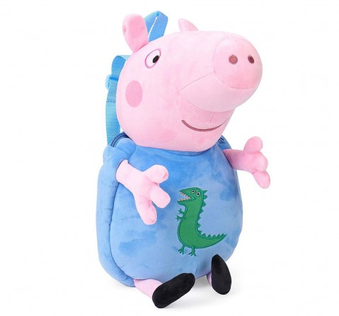 Peppa and George Pig Soft Toy Bag, Multi Color, 44 Cm Plush Accessories for Kids age 2Y+