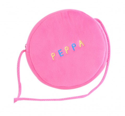 Peppa Pig Soft Toy Wallet Round Multi Color for Kids age 3Y+ - 16 Cm (Pink)
