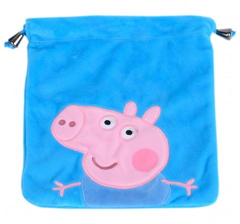 George Pig Blue Plush Toy Bag, 2Y+