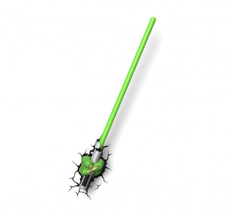 Star Wars Plastic And Metal Ep7 Star Wars Yoda Saber 3D Wall Deco Light for Kids age 4Y+