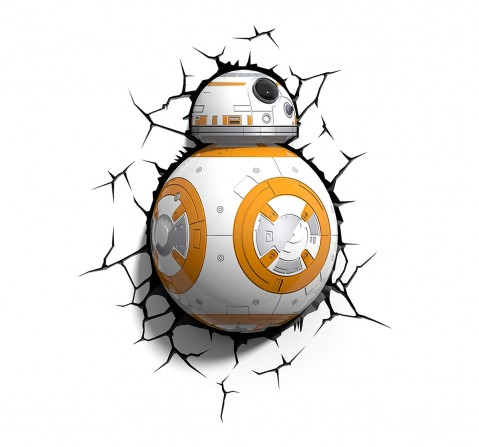 Star Wars Plastic And Metal Bb-8 Droid 3D Deco Led Wall Light for Kids age 4Y+