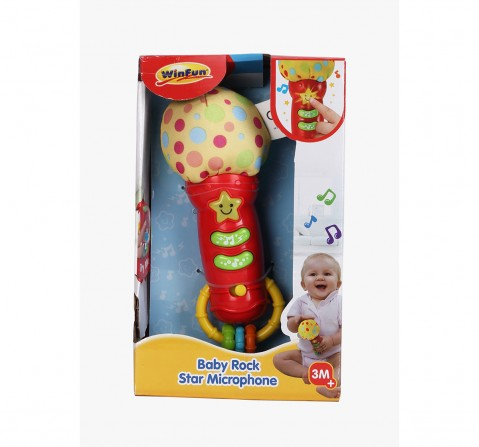 Winfun Baby Rock Star Microphone - Mics for Kids age 3M+ (Red)