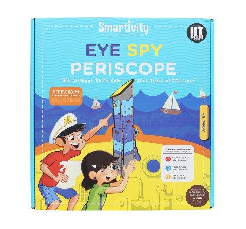 Smartivity Eye Spy Periscope :  Stem, Learning, Educational and Construction Activity Toy Gift  for Kids age 6Y+ (Multi-Color)