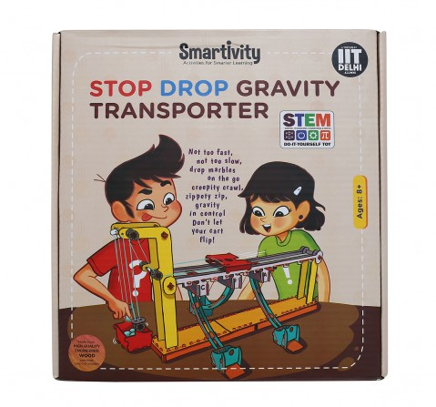 Smartivity Stop Drop Gravity Transporter : Stem, Learning, Educational and Construction Activity Toy Gift for Kids age 8Y+ (Multi-Color)
