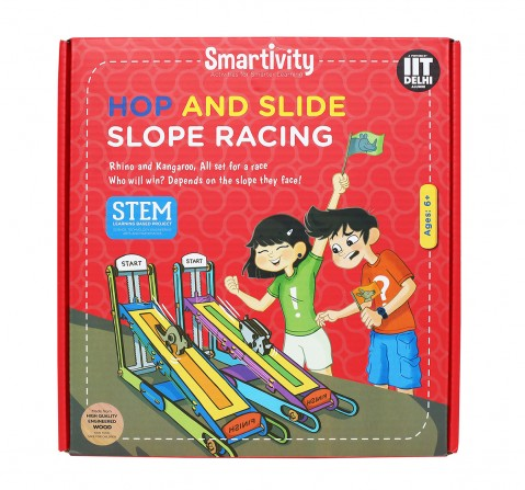 Smartivity Hop and Slide Slope Racing:  Stem, Learning, Educational and Construction Activity Toy Gift for Kids age 6Y+  (Multi-Color)