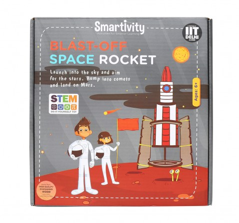 Smartivity Blast Off Space Rocket: Stem, Learning, Educational and Construction Activity Toy Gift for Kids age 6Y+ (Multi-Color)