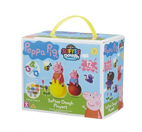 Peppa Pig Softee Dough- 2 Pack  Clay & dough for Kids age 3Y+