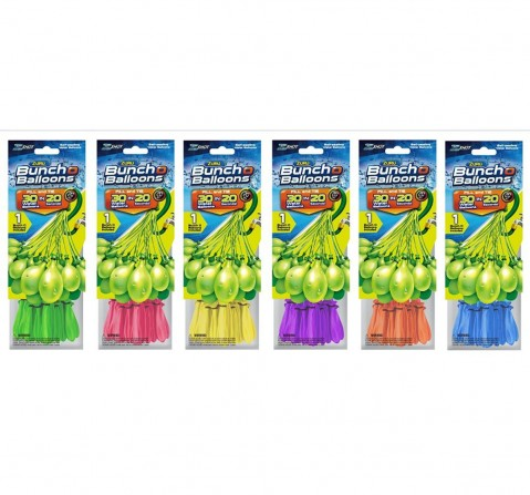 Zuru Bunch O Balloons 30 Rapid-Filling Self-Sealing Water Balloons (1 Pack) , 3Y+