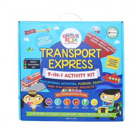 Genius Box Learning Transport Express Activity Kit  for Kids age 3Y+