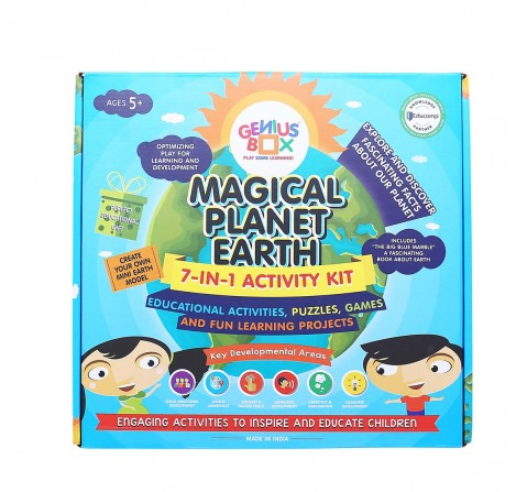 Genius Box  Learning Magical Planet Earth Educational Toys (Multicolour) Science Kits for Kids age 3Y+