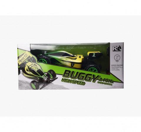 RW 1:10 2.4G Buggy Remote Control Car Green Remote Control Toys for Kids age 6Y+ (Green)