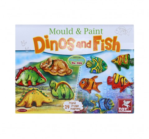 Toy Kraft M And P - Dinos And Fish DIY Art & Craft Kits for Kids age 5Y+