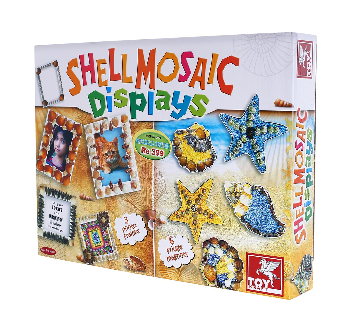 Toy Kraft Shell Mosaic Displays DIY Art & Craft Kits for Kids age 7Y+