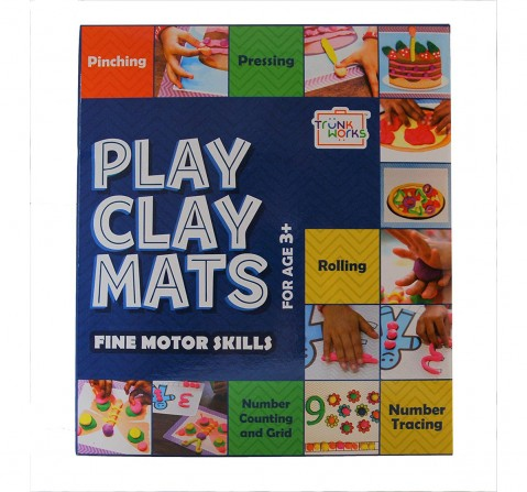 Play Clay Trunk Works Mats  & Dough for Kids age 3Y+