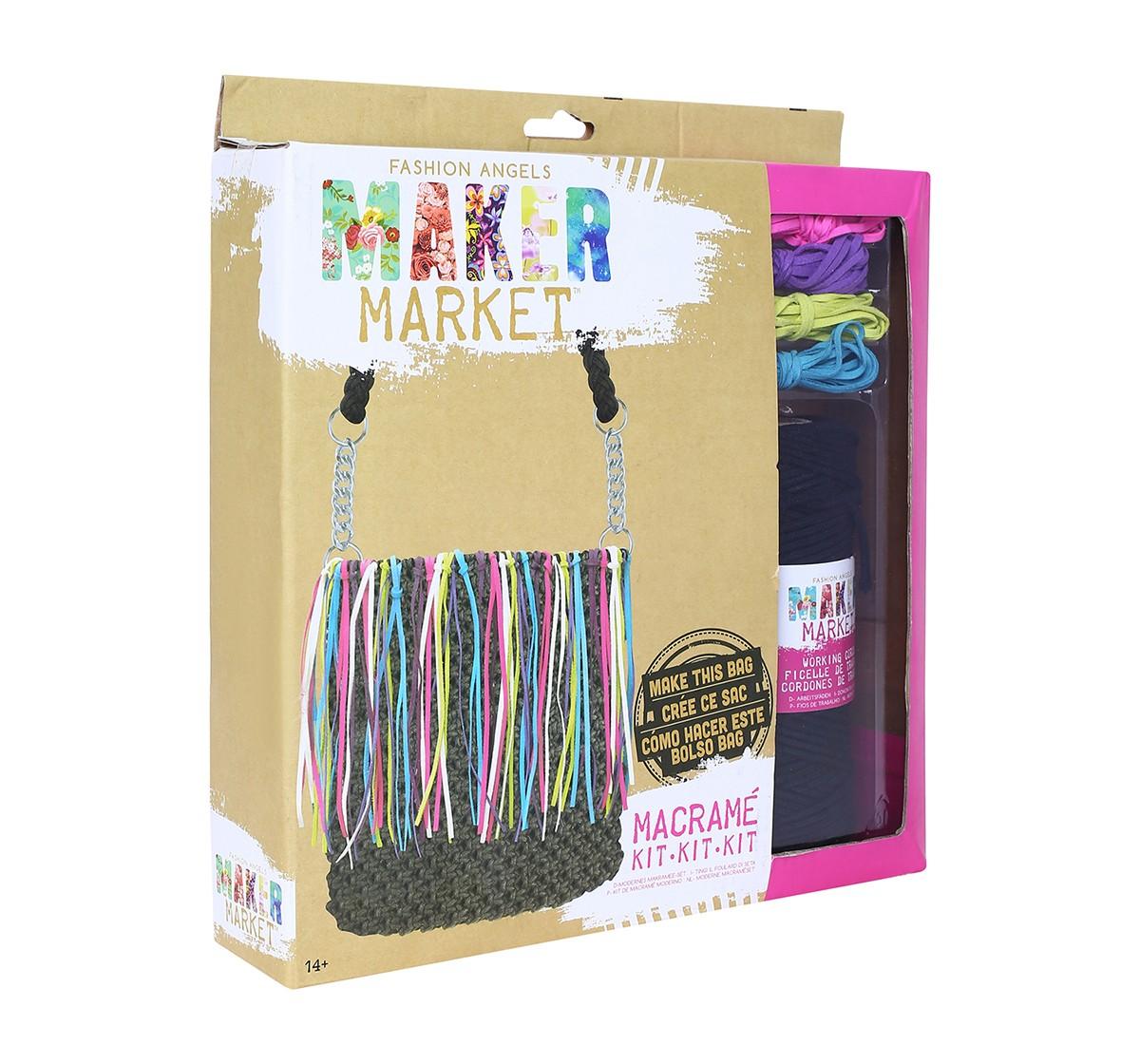 Fashion Angels Enterprises Maker Market Macrame Kit DIY Art & Craft Kits for Kids age 14Y+