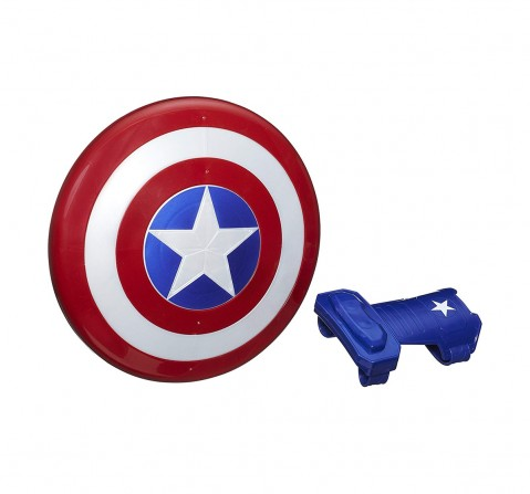 Marvel Avengers Captain America Magnetic Shield And Gauntlet, Multi Color Action Figure Play Sets for Kids age 5Y+