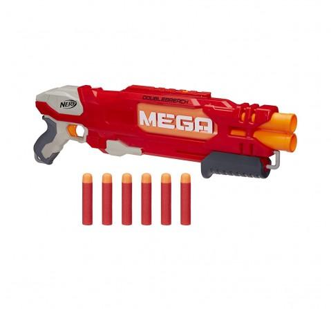 Nerf Mega Doublebreach Blaster -- Breech Load, Pump Action -- age 6Y+