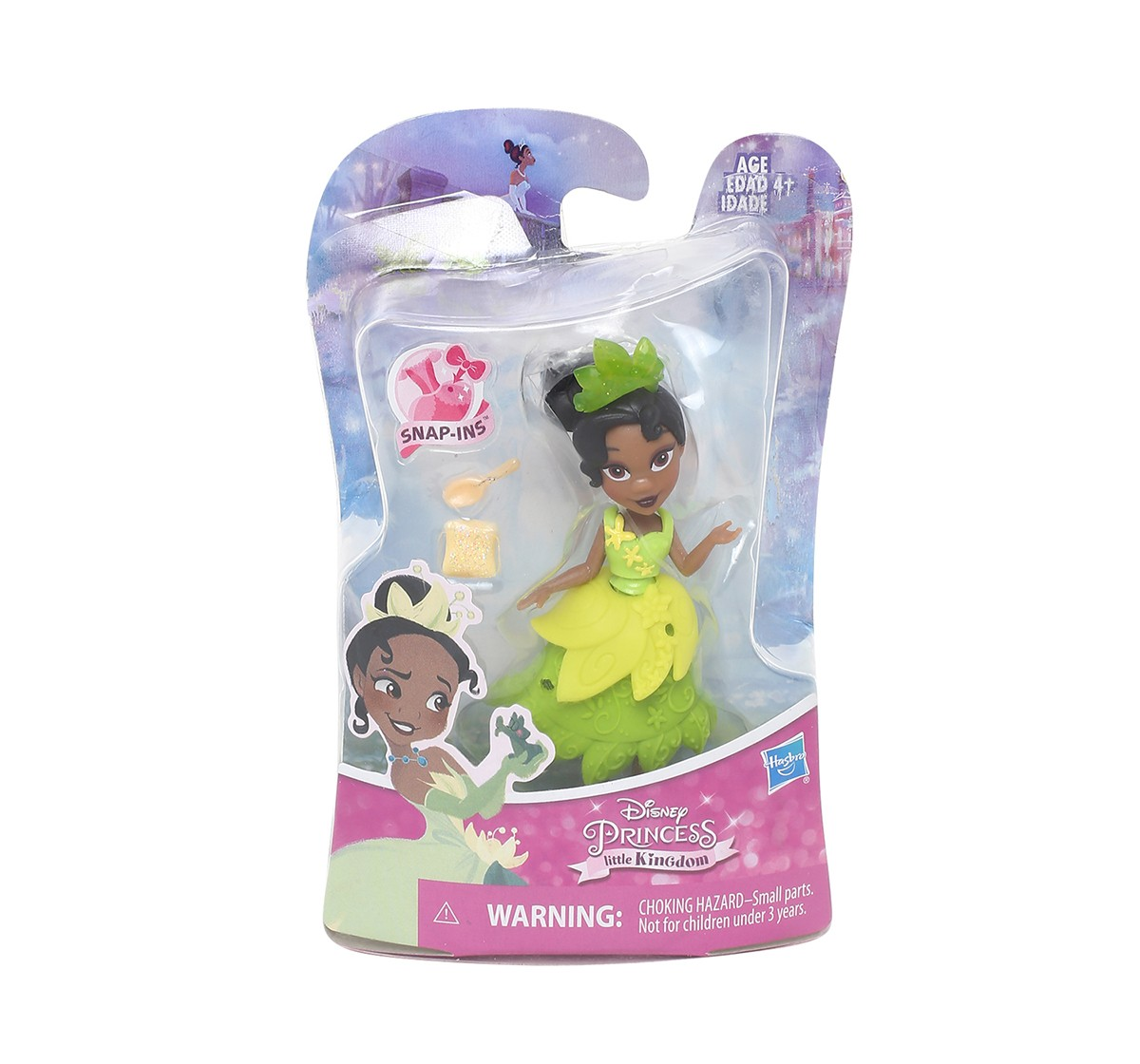 Disney Princess Little Kingdom Tiana Snap In Dolls & Accessories for Girls age 4Y+ (Green)