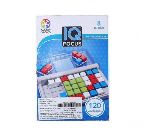Smart Games IQ Focus for Kids age 8Y+