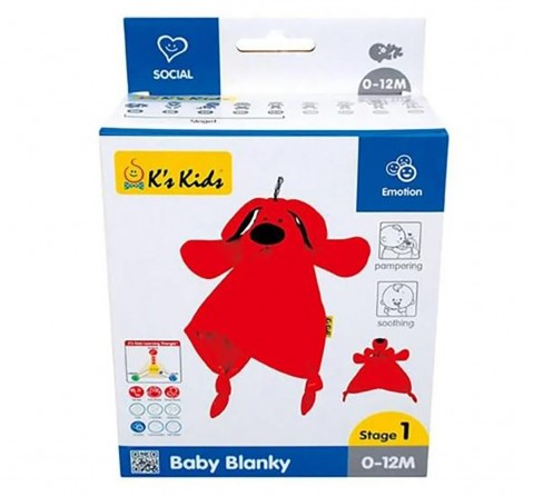Ks Kids Baby Blanky New Born for Kids age 0M+ (Red)
